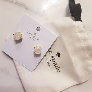 Kate Spade Gumdrop Glitter Opal Stud Earrings NWT